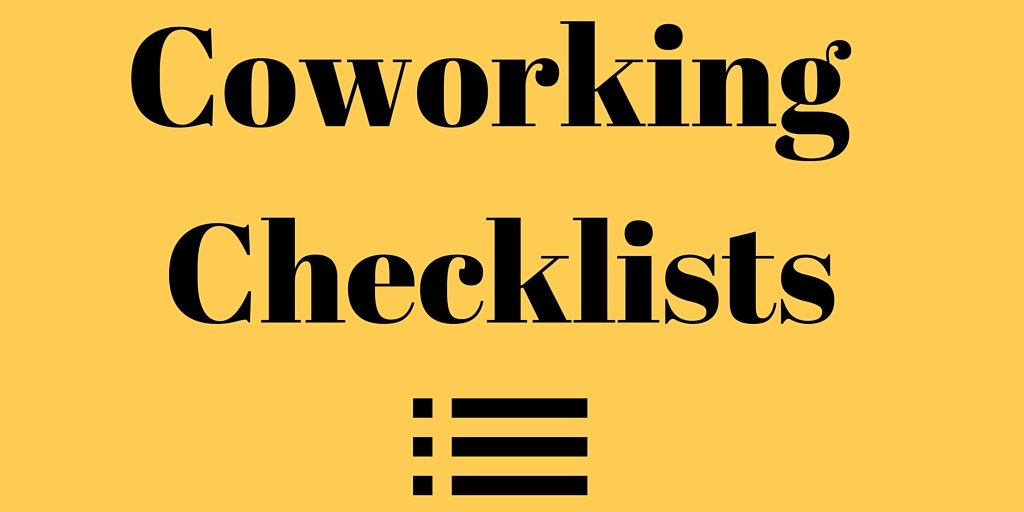 Coworking Checklists