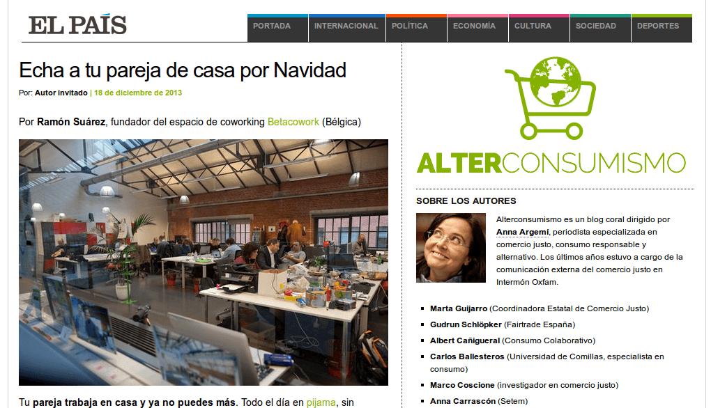 Artículo Coworking El País Alterconsumismo