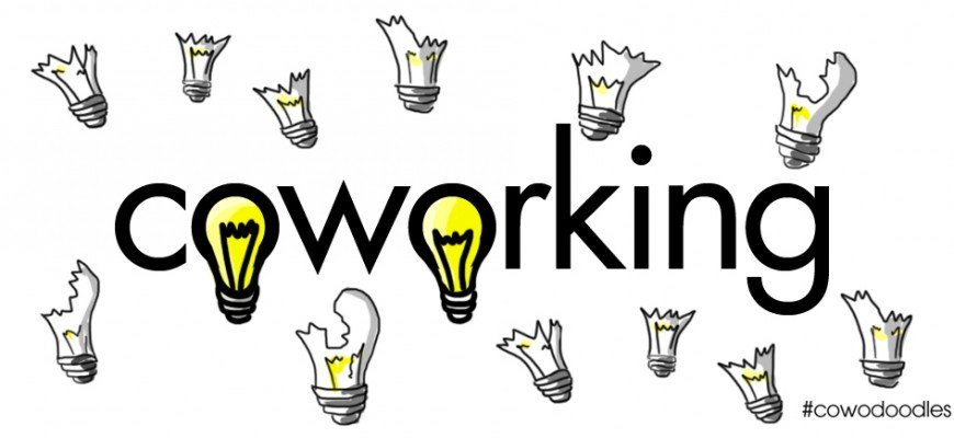 coworking banner designed by Carlos Almansa, #cowodoodles